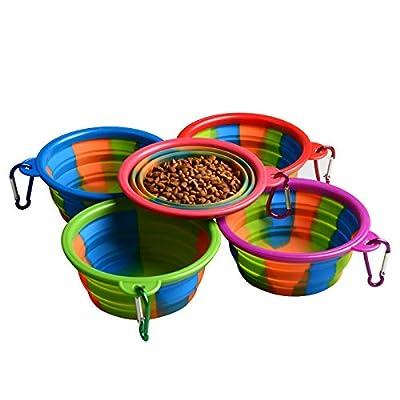 Soopus-X Collapsible Dog Bowl, Water Feeding Travel Dish Bowl for Pet Dog Cat, Food Grade Silicone BPA Free