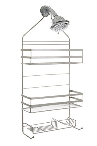 BINO #039Lafayette#039 RustResistant Shower Caddy  Satin Silver  Bathroom Shower Caddy Over The Shower Head Shower Rack Shower Organizer Hanging Shower Caddy Shampoo Holder for Shower