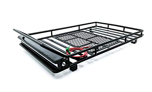 Ky-RC Luggage Carrier Roof Rack with LED Light Bar for 1/10...