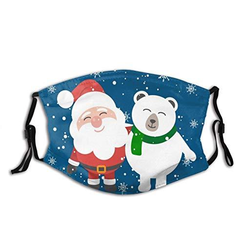 Sky Snowmen - Pasamontañas de Navidad M-A-S-K para adultos, cómodo, transpirable, elegante, lavable, color negro, Papá Noel y oso amigo, Talla única