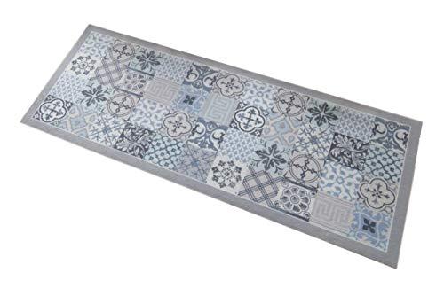 Partie Deco-Style Tapis, Polyamide, Gris/Bleu Clair, Unique