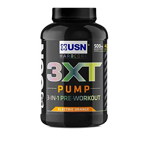 USN 3XT Pump Orange 840 g: Pre Workout Supplement Energy Drink With Caffeine, Enxtra and AstraGin