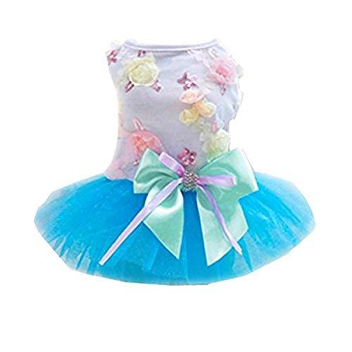 Boomboom Adorable Dog Dress Clothes Grid Skirt