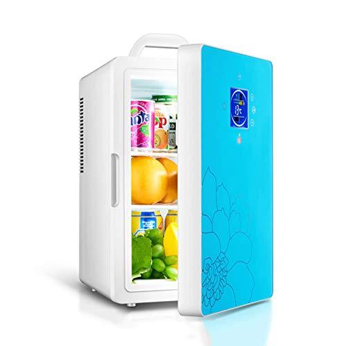 FHKBK Mini Refrigerador para Sala de Bebidas 2 en 1 Silencioso Refrigerador de Bebidas Pequeñas Retro Silent 16L con Control de Temperatura (-8 ℃ -65 ℃) 12V DC / 220V AC Es Adecuado para