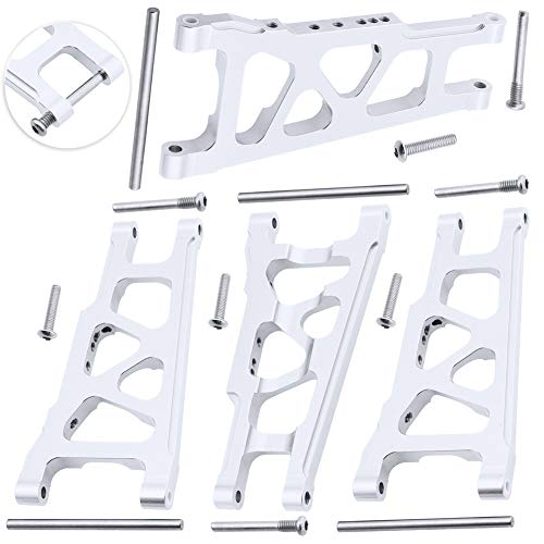 Hobbypark 4-Pack Front & Rear Aluminum Suspension Arms Replacement of 3655x for RC Traxxas 1/10 Slash 4x4 XO-1 Option Upgrade Parts Hop Ups