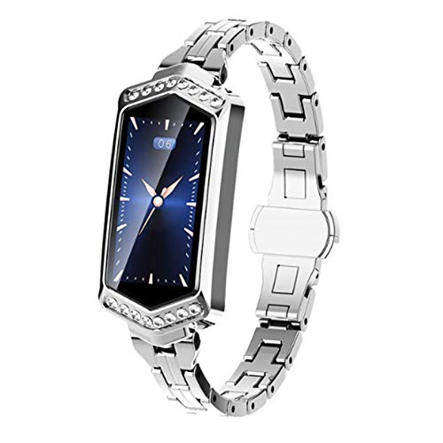 B78 Smart Horloges van de Vrouwen 2019 Waterdichte Hartslag-monitoring stappenteller Bluetooth voor Android IOS Fitness Armband Smartwatch,Silver