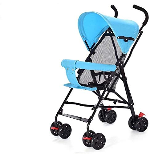 Baby stroller is ultra-light, portable, can sit, lie, and fold, simple shock absorber-[Sit only] Elegant gray naked car