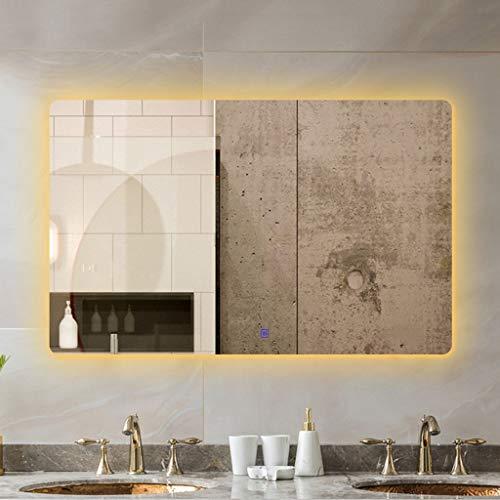 Amberzcy Espejo Rectángulo Táctil Iluminado Espejo De Baño con Luz LED Y...