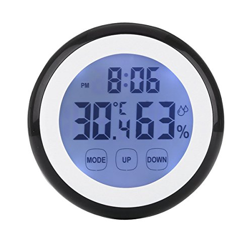Enjoy Best Time Digital Weather Station Wall Mounted Alarm Clock With Temperature & Humidity-Mini Touch Screen Indoor Thermometer Hygrometer Cooking Clocks For Kitchen,Traveling, Living Room