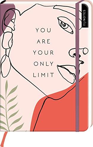 myNOTES Notizbuch A5: You are your only limit: Notebook medium, dotted - für Träume, Pläne und Ideen / ideal als Bullet Journal oder Tagebuch