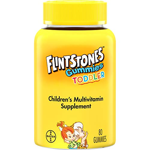 Flintstones Gummies Toddler Vitamins, Gummy Multivitamin for Toddlers with Vitamins A, C, D, B12, Zinc & more, 80ct