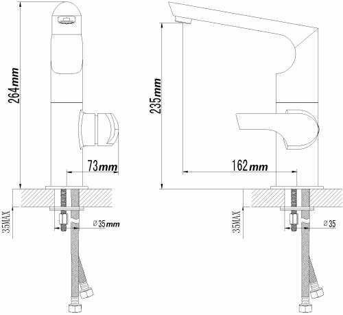Sanlingo – Design-Spültischarmatur Mailand, Schwenkauslauf, Chrom - 2