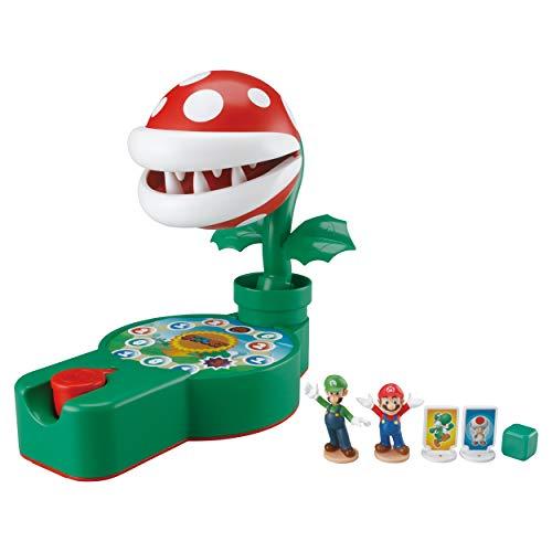 Piranha Plant está dormida, conseguirás ayudar a Super Mario y Luigi a llegar a su destino Tira el dado y avanza en el tablero; te ha tocado pulsar el botón, cuidado con la Piranha Plant o se lanzará a por ti El juego incluye: plataforma con Piranha ...