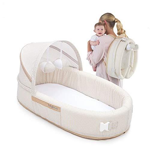 KLI Cama Plegable De Viaje 4 En 1 Cuna Portátil De Bebé Recién Nacido Junto A La Persona Que Duerme, 41.9 * 36.8 * 15.2Cm