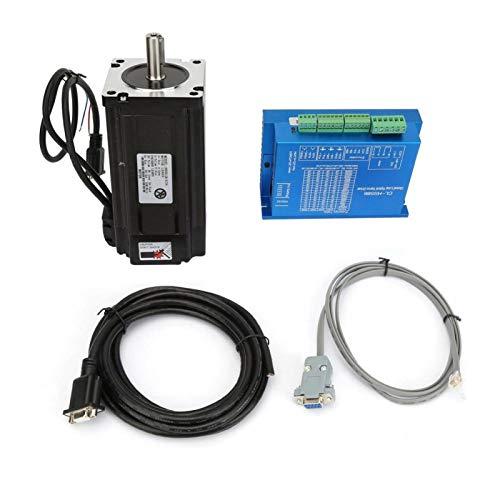Motor paso a paso bipolar de bucle cerrado NEMA34 12N.m con kit de controlador de controlador para enrutador CNC 239,8 oz