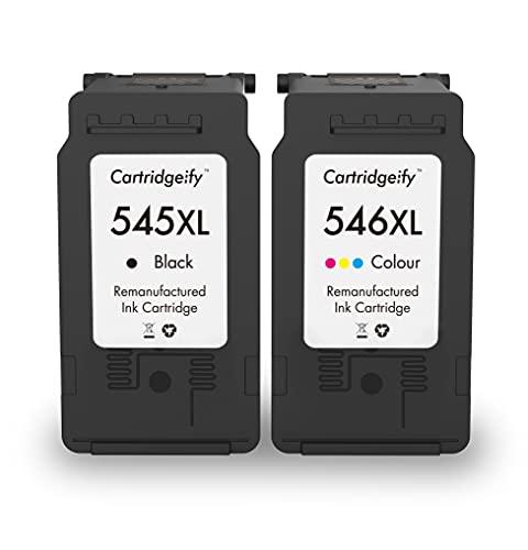 Cartridgeify 545XL 546XL Compatible con Cartuchos de Impresora Canon PG-545 XL CL-546 XL Multipack, para PIXMA TS3150, TS3151, MX495, TR4550, MG2450, MG2550, MG2950, iP2850