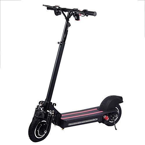 Chinejaper Opvouwbare elektrische step, 10 inch (25,4 cm) dubbele aandrijving, volwassenen, tot 45 km/u reikwijdte E-scooter met voor- en achterlichten