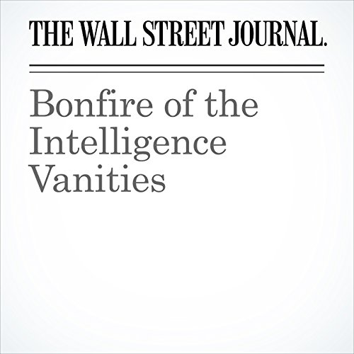Bonfire of the Intelligence Vanities audiobook cover art