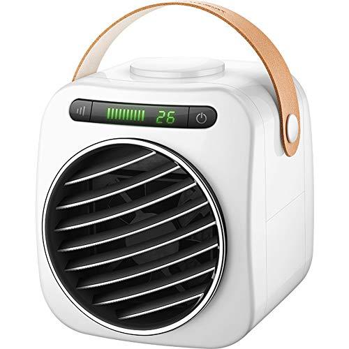 LHZHG Aire Acondicionado Portátil Enfriador, Climatizador Evaporativo Ventilador USB Humidificador de Viento Frío with Pantalla Digital 3 Velocidades Silencioso para Hogar Oficina Camper