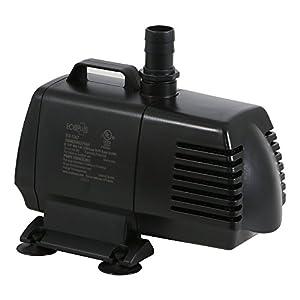 EcoPlus 1340 GPH (5072 LPH, 125W) Submersible Water Pump w/ 15 ft Power Cord | Aquarium, Fish Tank, Fountain, Pond, Hydroponics