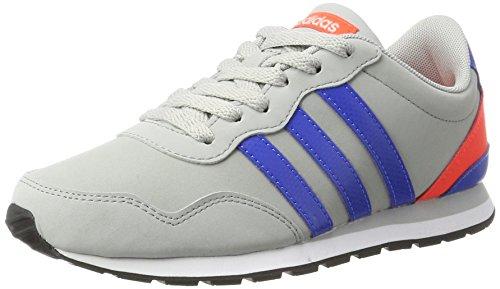 adidas Unisex-Kinder V Jog K Sneaker, Grau (Clonix/Blue/Solred), 39 1/3 EU