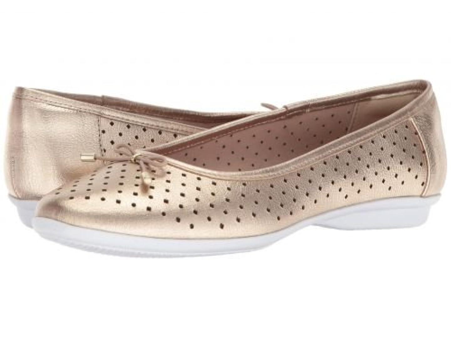 補うワックス割り当てClarks(クラークス) レディース 女性用 シューズ 靴 フラット Gracelin Lea - Gold Metallic Leather [並行輸入品]