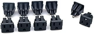 GLE2016 10Pcs Black US 3 Pins Power Socket Plug Panel Screw Mount Type Connectors Adapter (Female)