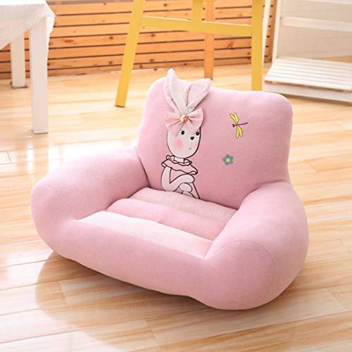 Baby Cartoon Soft Chair, Mobili Poltrona Wing Back Divano Lounge Vasca da Bagno Fireside con Poggiapiedi Living Bed Room Office Modern Fabric Gaming Bean Bag Adulto, Pink