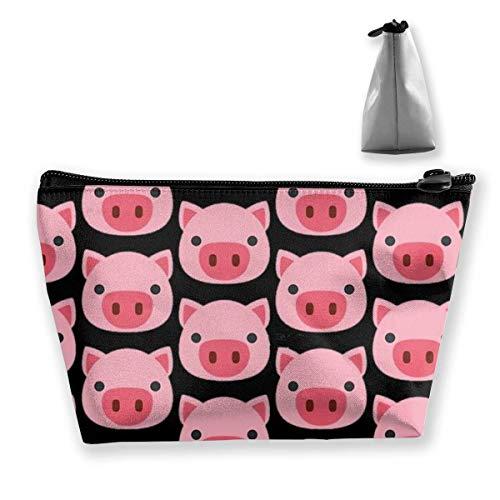 Pink Pig Faces Trousse de maquillage trapézoïdale pour femme