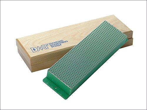 DMT - Pierre à aiguiser Diamant 200 mm Boîte en Bois Vert 1200 Grain Extra Fin