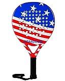 Tennis Paddle Racket Padel Racquet Pro Carbon Fiber EVA Foam Padel Tennis Paddleball Racket Racquets (US Flag)