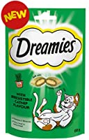 Dreamies classic dual-textured treats that your cat will love. Infused with catnip making these already irresistible treats that bit more tempting. Just shake the bag and watch your cat come running! 60g of treats will last you weeks. Please read pac...