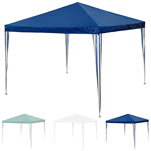 TecTake Tonelle Tente Gazebo Pavillon de jardin d'événement bière pour fête de camping   3 x 3 m   Bleu   No. 401618