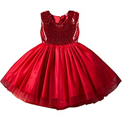 Red07 Tulle Tutu Baby Dress With Sequins