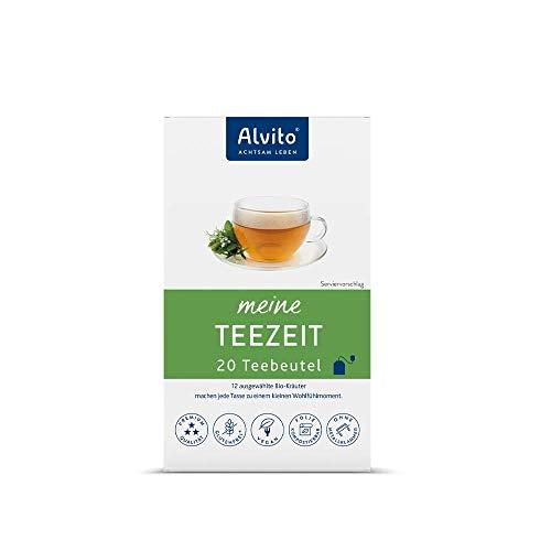 Alvito TeeZeit Basischer Kräutertee Bio Teebeutel, Weiß, Beutel, 20 stück, 20 Beutel