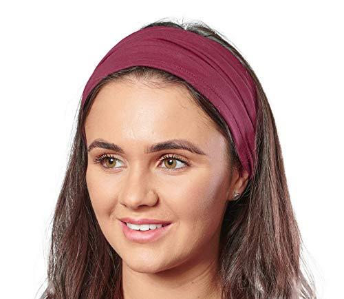 Antonia York, Stirnband für Damen, Turban, breites Kopfband Gr. Einheitsgröße, burgunderfarben