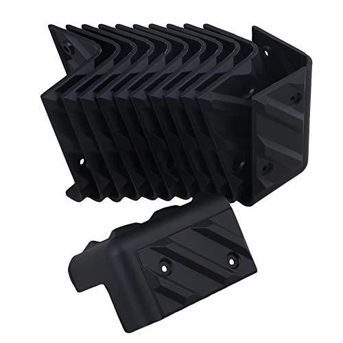 yibuy 48x 48x 80mm negro plástico ángulo recto armario de esquina Protector...