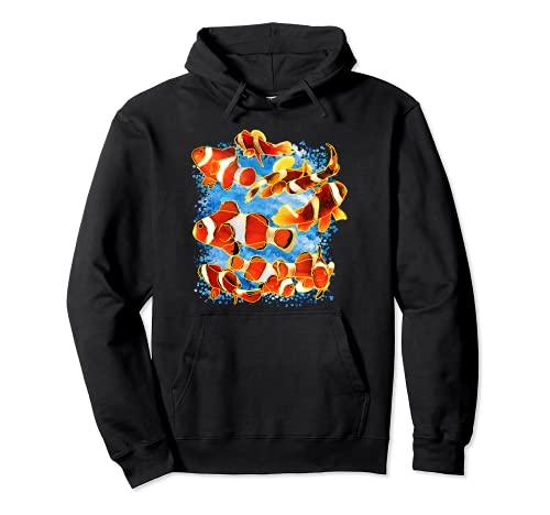 Clownfisch Design Salzwasser Aquarium Fisch Anemonenfisch Pullover Hoodie
