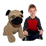 CUDDALICIOUS Animal Plush Puppy Dog - 26 Inch Lifelike Soft Inflatable Puppy Pals Toy 2 Feet Tall