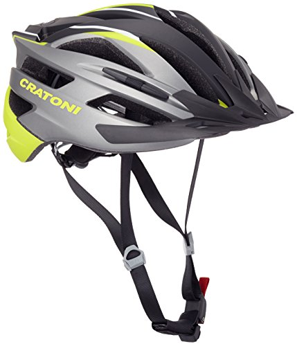 Cratoni Fahrradhelm Agravic, Anthracite/Lime/Black Matt, L-XL