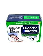 Breathe Right Nasal Strips - Extra Sterk - Helder - 72 Clear Strips
