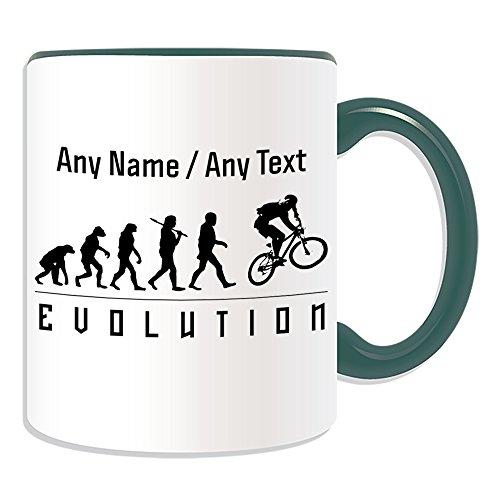 Gepersonaliseerd cadeau - Bmxing mok (Evolution Design Color) elke naam bericht op unieke - teamspeler contour Olympisch spel sport mountainbike rijden extreme vrije stijl BMX racen fiets motorcross fietsen
