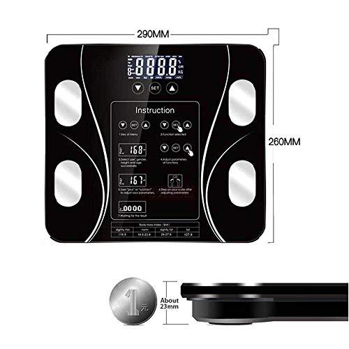 Badkamer Lichaamsvetweegschaal Digitale weegschaal voor mensen Vloer LCD-scherm Body Index Elektronische slimme weegschalen
