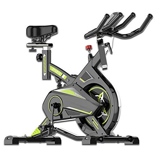Yingm Bicicleta de Spinning Fitness Indoor Cubierta silenciosa Ejercicio aeróbico Ciclo de la Bici Bicicleta estática 8 Kg Volante Sigue Moviendote (Color : Black, Size : 111x51x120cm)