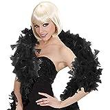 WIDMANN wid45511?Boa de plumas Lusso, Color Negro, talla única