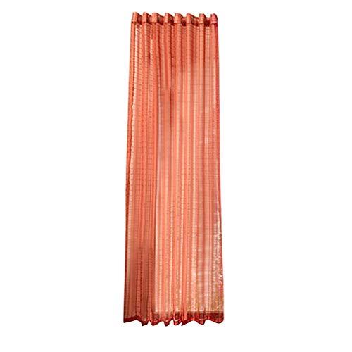 Xmiral Gardine Türvorhang Plaid Tüll Einfarbig Ösen Einfarbig Dekoration Gardine Für Kinderzimmer Wohnzimmer Schlafzimmer(Orange)