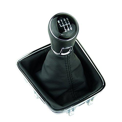 L&P A278-3 - Cuffia del cambio a 6 marce, 12 mm, compatibile con VW Golf Plus 5M 521 Tiguan I 5N Sharan II 7N telaio cromato completo pomello Plug Play di ricambio per OEM