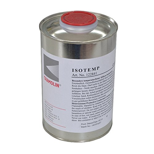 ISOTEMP 1 L Dose - Besonders temperaturfester Silikon-Isolierlack - ITW Cramolin - 122841 - hitze-, feuchtigkeits- und witterungsbeständiger Isolierlack, inkl. 1 St. DEWEPRO® SingleScrubs
