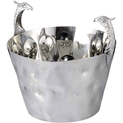 Cerveza Refrigerada Cubitera para Hielo Cubo de hielo de metal - Grifo de acero inoxidable Punto de martillo Punto de hielo portátil para fiestas, para cóctel, vino y bebidas de jardín Más fresco