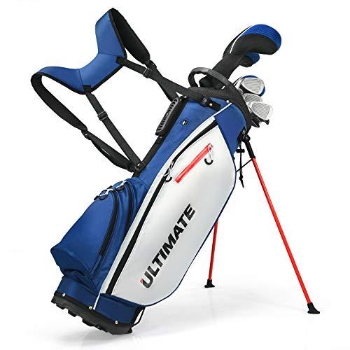 COSTWAY Set da Golf Completo con 9 Mazze e Sacca da Golf, Driver 460cc, da Uomo, Blu